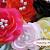 **SALE**(12) Sequin Pearl Center Silk Flower