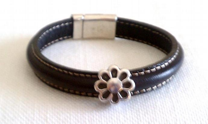 Regaliz Greek Leather Bracelet, Item #433
