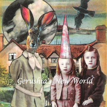 Rabbit's Curious Day (Tiny Tale Art) ~ Anthropomorphic Watercolor Collage Print