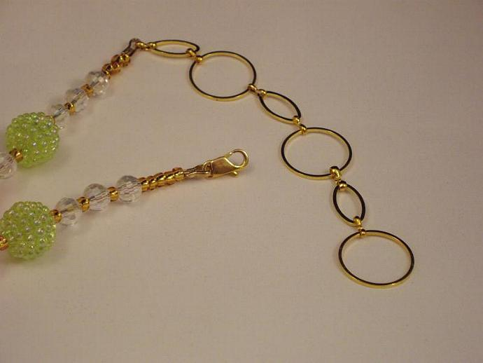 Bubble Beads and Glass Necklace