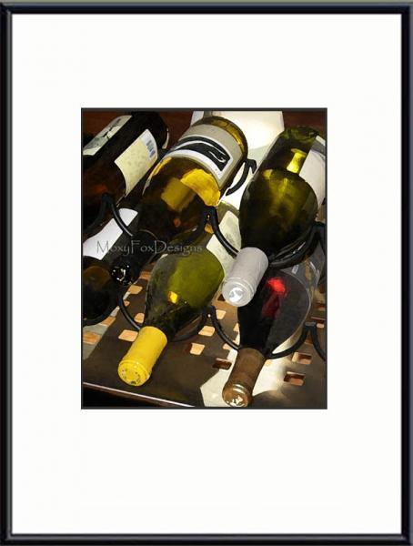 Art — Wine, Wine Cart, Wine Bottles, Kitchen Art Wine Cellar, Fine Art, Giclee