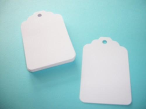 30ct White hang tags / DIY projects / Scrapbooking