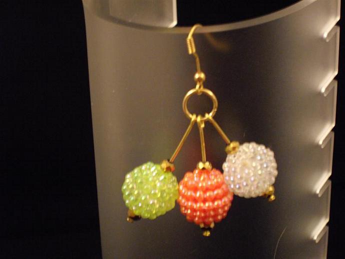 Bubble Bead Drop Earrings