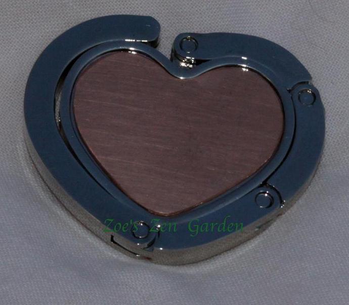 Copper Heart Collapsible Purse Hanger