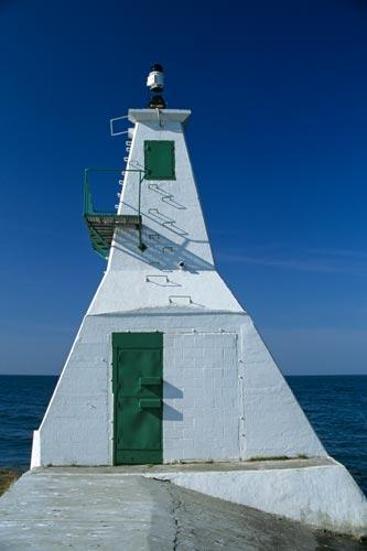 The Lighthouse at Erieau Canada on Lake Erie
