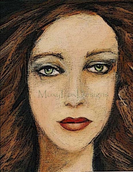 "Art -- Fine Art Print ""TANGERINE"" Woman Portrait Sexy Exotic Latin America"