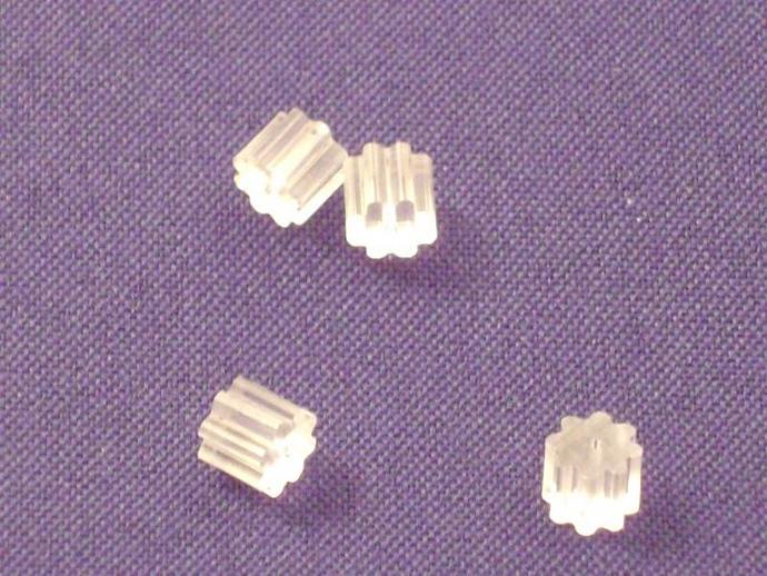 Opalite and Hematine Bead Drop Earrings