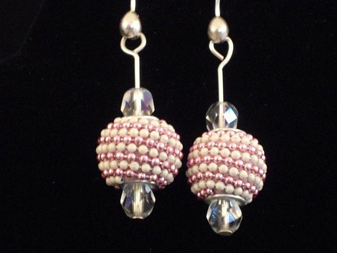 Exotic Pink Bead Earrings