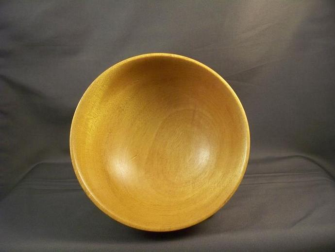 Petite Yellow Heart Wood Bowl