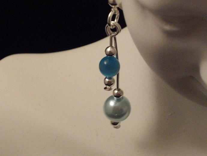 Cool Blue Drop Earrings