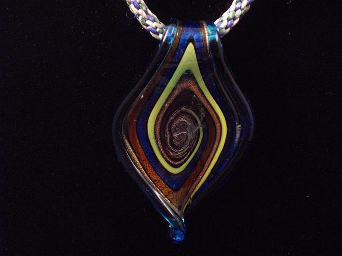 KumiCord with Glass Pendant