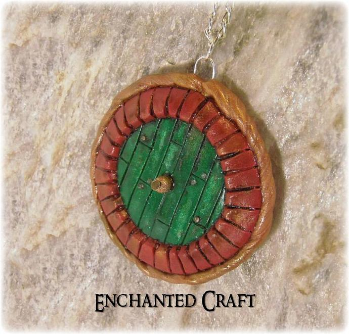 Hobbit Door pendant- Bag End for LOTR and halfling fans