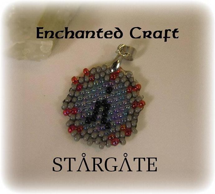 STARGATE Seed bead Pendant