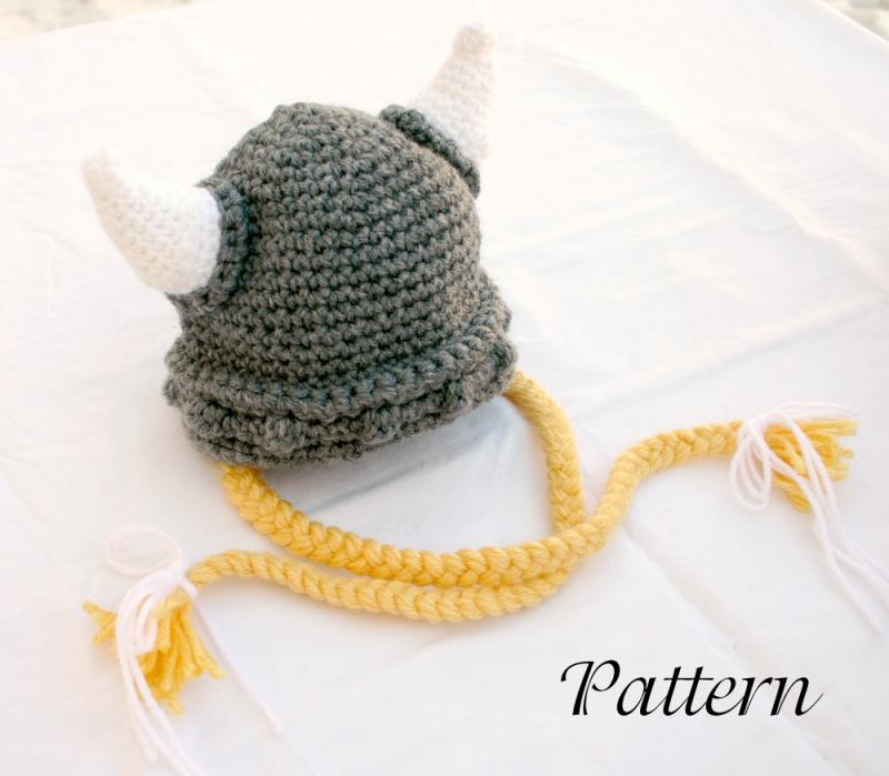 Viking baby hat PDF crochet pattern by lovinghandscrochet on Zibbet