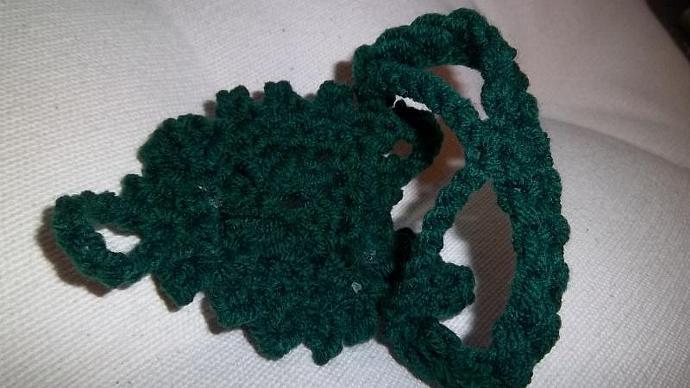 Womens' Bohemian Wristlet in Hunter Green