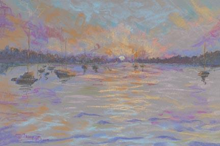 """Peaceful Harbor"" Paper Giclee Print by Carol Thompson"