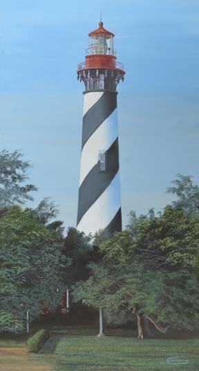 """""""St. Augustine Lighthouse"""" Paper Giclee Print Florida by Carol Thompson"""