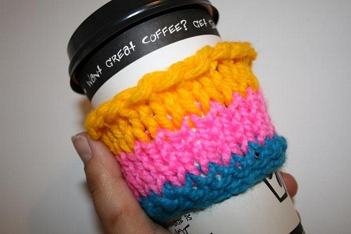 Bright Stripes CuppaJoe Cozy / Wrist Wrap