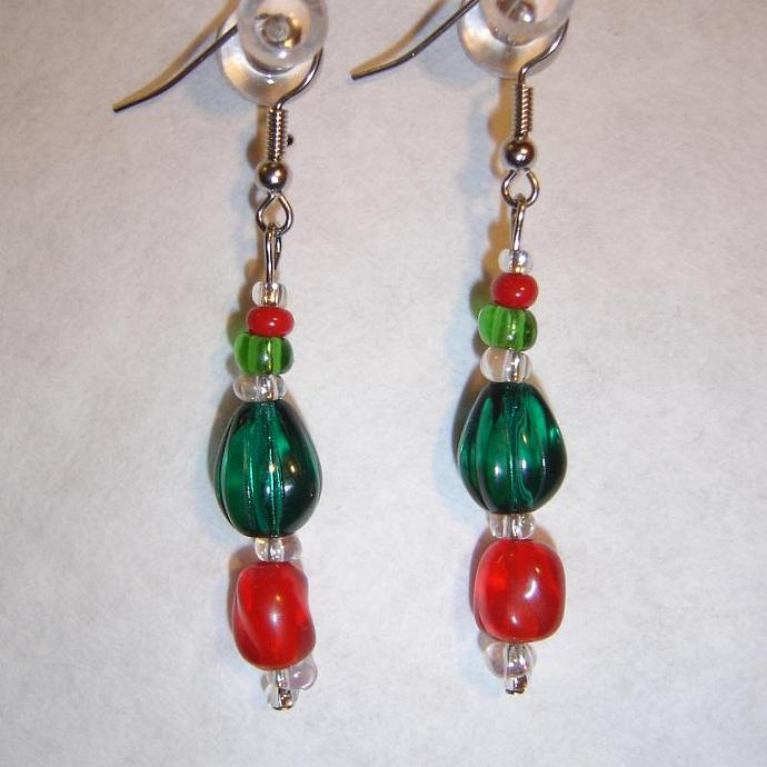 Happy Holidays earrings