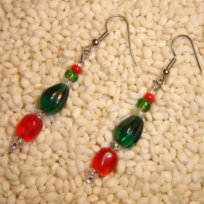 Happy Holidays earrings