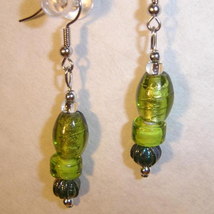 Festive Green earrings