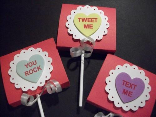 Valentines Day Party Favor/To From Lollipops/covers