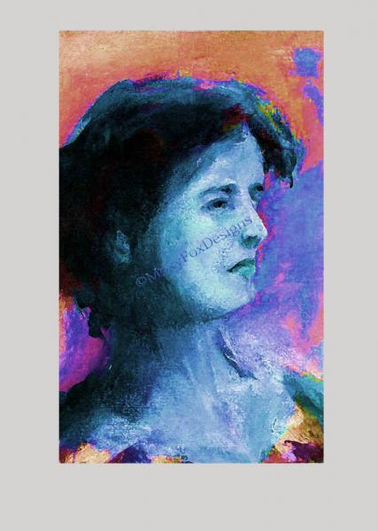 Art – Portrait IRISH GIRL Lady Fine Art Giclee Print Free US Shipping