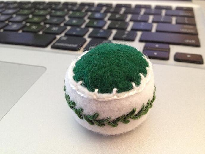 Vine-Wrapped Bottlecap Pincushion