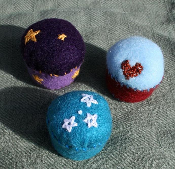 Turquoise and Stars Bottlecap Pincushion