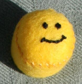 Smiley Face Bottlecap Pincushion