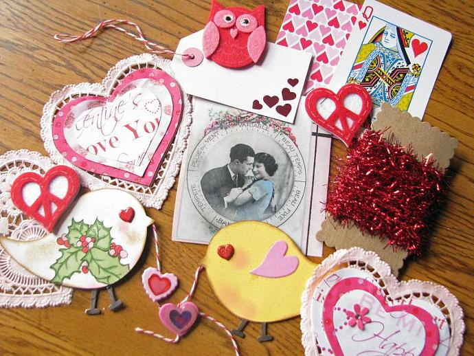 A Valentine's Day Kit- Great for Scrapbooking a Page- Making Valentine's Day