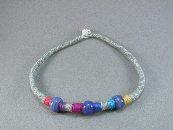 beaded choker necklace 219
