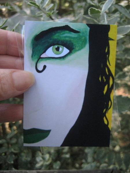 Emerald Allure ACEO PRINT artist trading card miniature art LIMITED edition