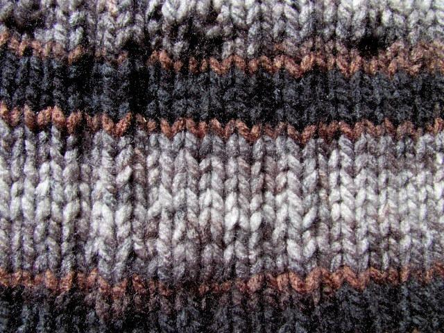 Unisex Stripe Knitted  Cowl
