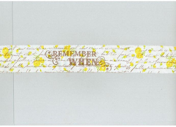 REMEMBER WHEN Sweet cottage yellow rose garden, french script,  hand made muslin