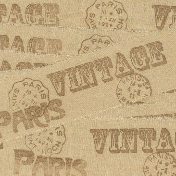 milk chocolate with VINTAGE PARIS  and French POSTMARKS rubber stamped ribbon