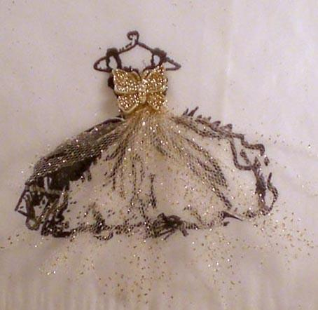 30 butterfly gold glitter black french dress glassine bag shabby chic wedding