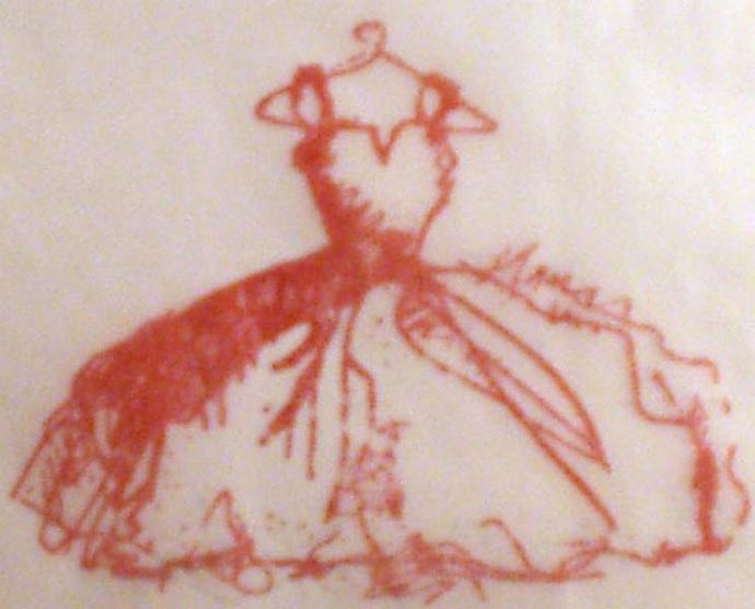 french dress glassine bag shabby chic wedding favor treat  (g109)