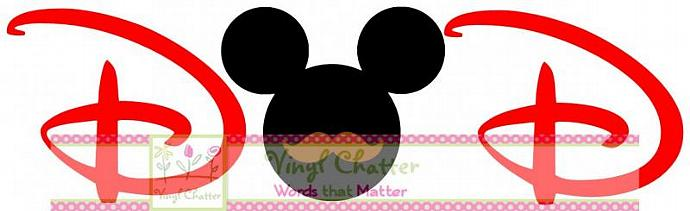 DAD Mickey with Mustache DIY Iron on Decal