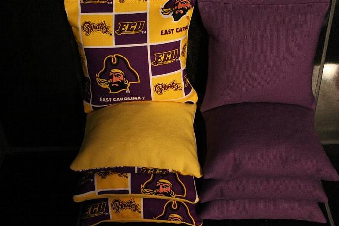 ECU East Carolina Pirates Cornhole Bean Bags 8 ACA Regulation Corn Hole Bags