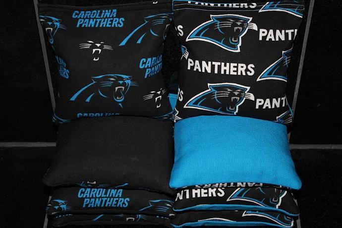 CAROLINA PANTHERS Cornhole Bean Bags 8 ACA Regulation Corn Hole Bags Baggo Toss