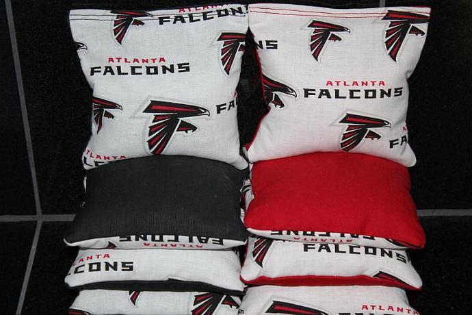 ATLANTA FALCONS Cornhole Bean Bags 8 ACA Regulation Corn Hole Bags Baggo Toss