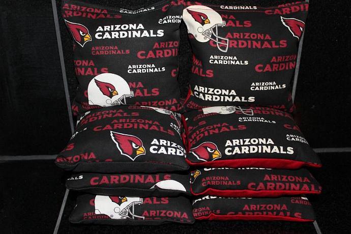 ARIZONA CARDINALS Cornhole Bean Bags 8 ACA Regulation Corn Hole Bags Baggo Toss