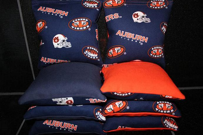 AUBURN UNIVERSITY Tigers Cornhole Bean Bags 8 ACA Regulation Corn Hole Bags