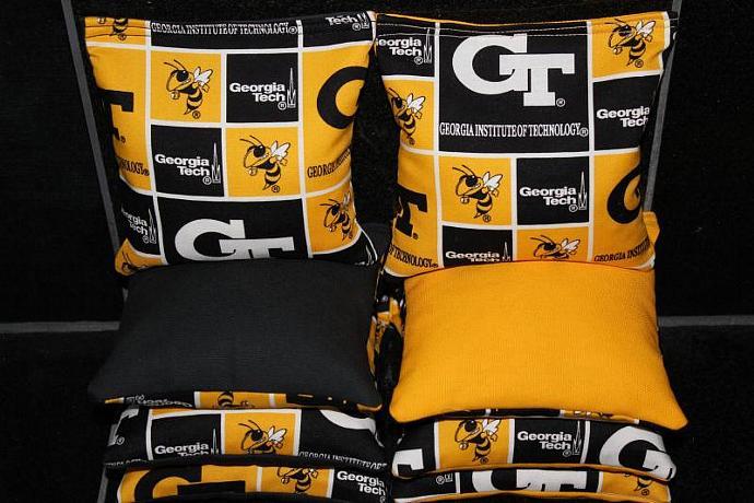 GEORGIA TECH Yellow Jackets Cornhole Bean Bags 8 ACA Regulation Corn Hole Bags