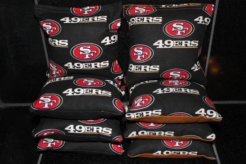 SAN FRANCISCO 49ers Cornhole Bean Bags 8 ACA Regulation Corn Hole Bags Baggo