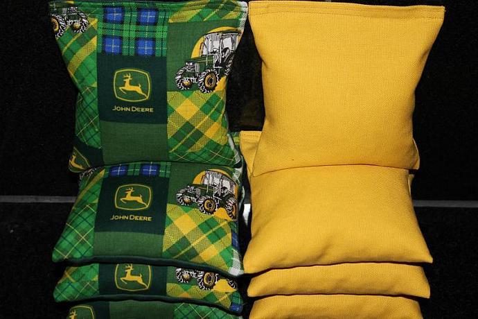 JOHN DEERE Cornhole Bean Bags 8 ACA Regulation Corn Hole Bags Baggo Toss