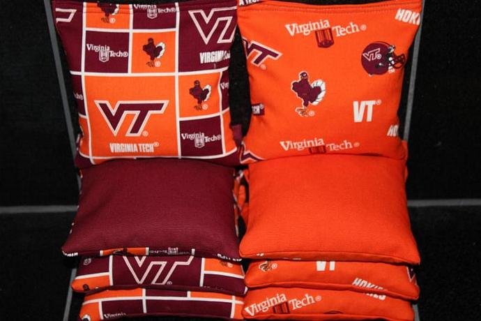 VIRGINIA TECH HOKIES Cornhole Bean Bags 8 ACA Regulation Corn Hole Bags Baggo