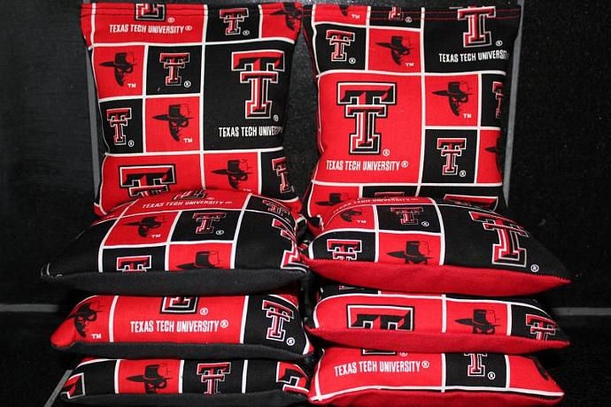 TEXAS TECH University Cornhole Bean Bags 8 ACA Regulation Corn Hole Bags Baggo