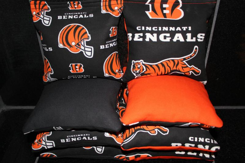 Super Cincinnati Bengals Cornhole Bean Bags 8 Aca Regulation Corn Hole Bags Baggo Toss Tailgate Game Lamtechconsult Wood Chair Design Ideas Lamtechconsultcom